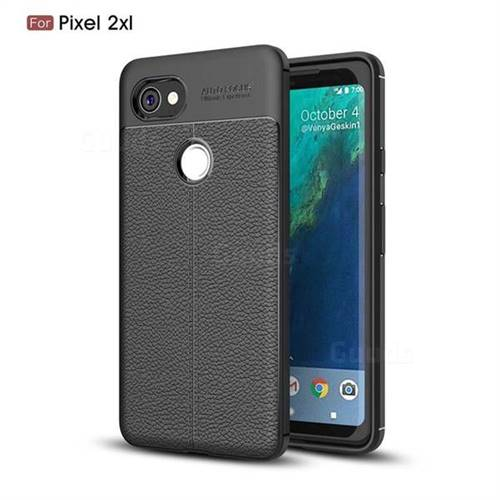 Luxury Auto Focus Litchi Texture Silicone TPU Back Cover for Google Pixel 2 XL - Black