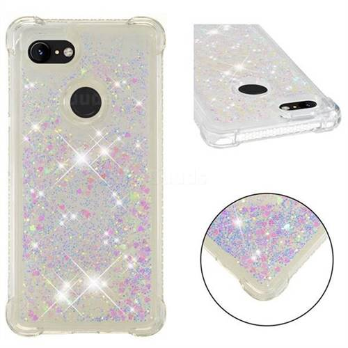 Dynamic Liquid Glitter Sand Quicksand Star TPU Case for Google Pixel 3 - Pink