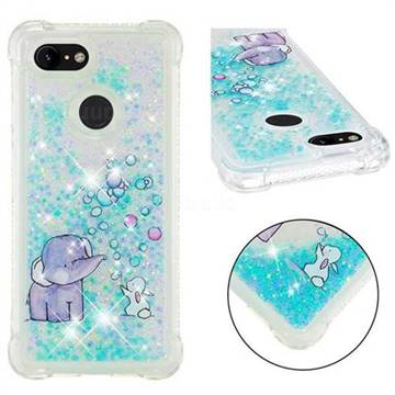Bubble Jumbo Rabbit Dynamic Liquid Glitter Sand Quicksand Star TPU Case for Google Pixel 3
