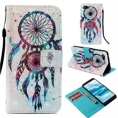 ColorDrops Wind Chimes 3D Painted Leather Wallet Case for Google Pixel 3