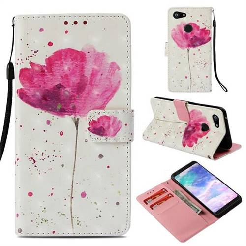 Watercolor 3D Painted Leather Wallet Case for Google Pixel 3