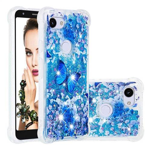 Flower Butterfly Dynamic Liquid Glitter Sand Quicksand Star TPU Case for Google Pixel 3A