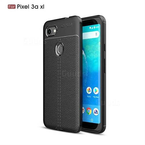 Luxury Auto Focus Litchi Texture Silicone TPU Back Cover for Google Pixel 3A XL - Black