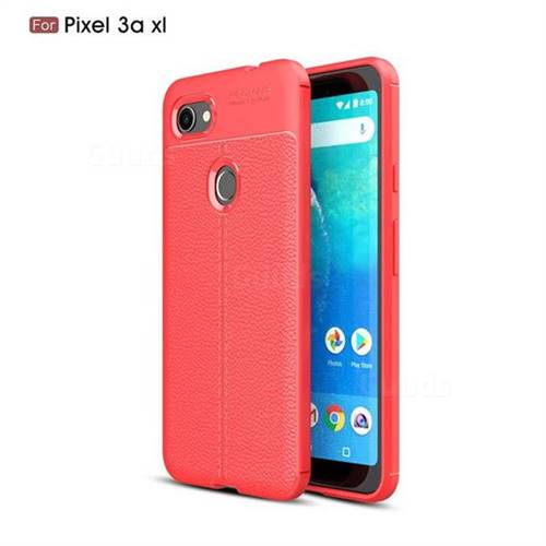 finest selection 82e76 36eb0 Luxury Auto Focus Litchi Texture Silicone TPU Back Cover for Google Pixel  3A XL - Red