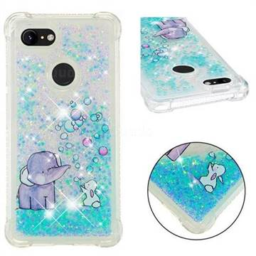 Bubble Jumbo Rabbit Dynamic Liquid Glitter Sand Quicksand Star TPU Case for Google Pixel 3 XL