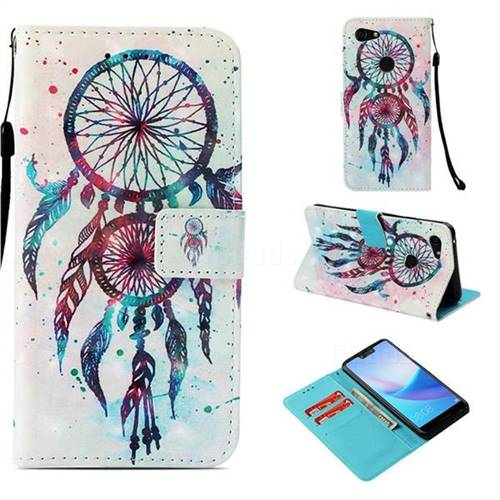 ColorDrops Wind Chimes 3D Painted Leather Wallet Case for Google Pixel 3 XL