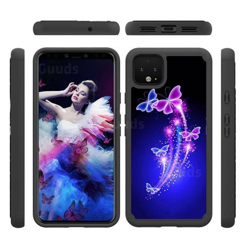 Dancing Butterflies Shock Absorbing Hybrid Defender Rugged Phone Case Cover for Google Pixel 4