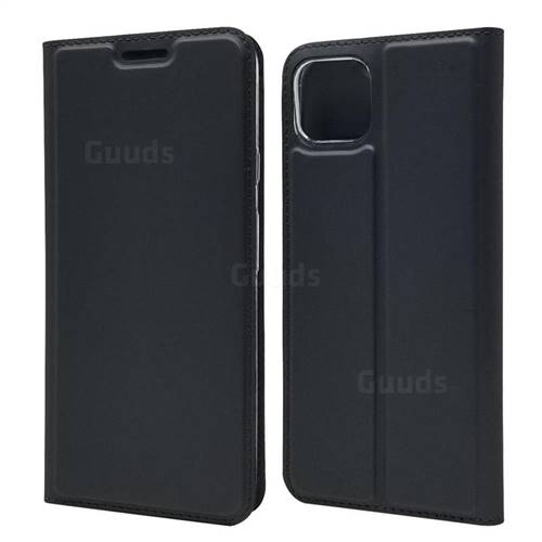 Ultra Slim Card Magnetic Automatic Suction Leather Wallet Case for Google Pixel 4 XL - Star Grey