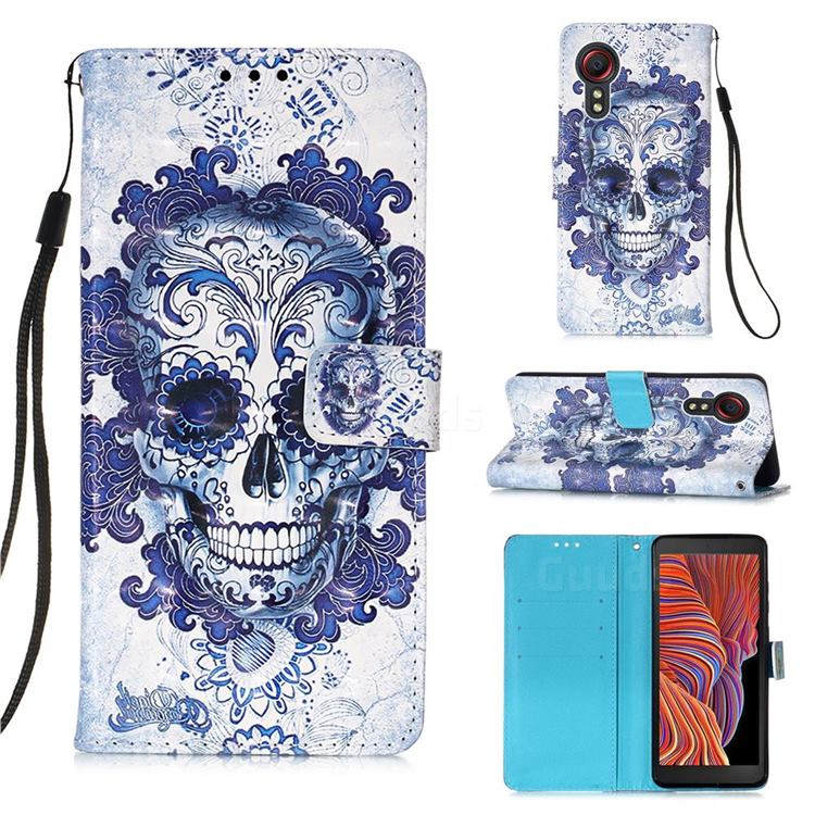 Cloud Kito 3D Painted Leather Wallet Case for Samsung Galaxy Xcover 5