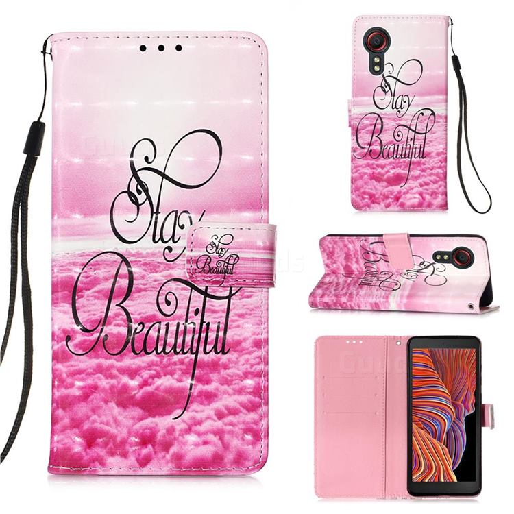 Beautiful 3D Painted Leather Wallet Case for Samsung Galaxy Xcover 5