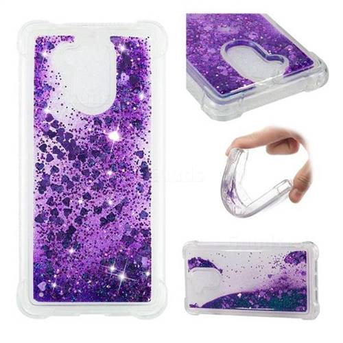 Dynamic Liquid Glitter Sand Quicksand Star TPU Case for Huawei Enjoy 6s Honor 6C Nova Smart - Purple