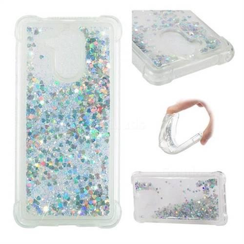 Dynamic Liquid Glitter Sand Quicksand Star TPU Case for Huawei Enjoy 6s Honor 6C Nova Smart - Silver
