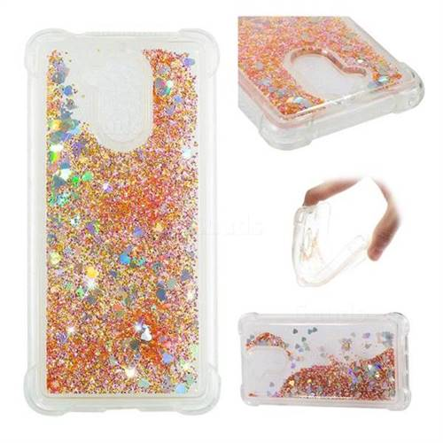 Dynamic Liquid Glitter Sand Quicksand Star TPU Case for Huawei Enjoy 6s Honor 6C Nova Smart - Diamond Gold