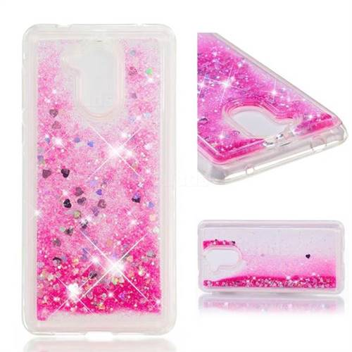Dynamic Liquid Glitter Quicksand Sequins TPU Phone Case for Huawei Enjoy 6s Honor 6C Nova Smart - Rose