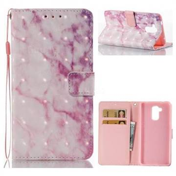 Pink Marble 3D Painted Leather Wallet Case for Huawei Enjoy 6s Honor 6C Nova Smart
