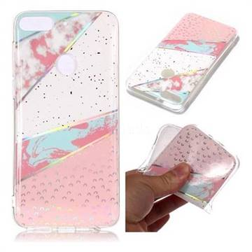 Matching Color Marble Pattern Bright Color Laser Soft TPU Case for HTC Desire 12+ Plus (6.0 inch)