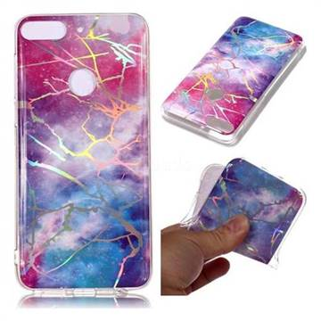 Dream Sky Marble Pattern Bright Color Laser Soft TPU Case for HTC Desire 12+ Plus (6.0 inch)