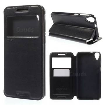 new style ed780 7eb16 Roar Korea Noble View Leather Flip Cover for HTC Desire 820 - Dark Blue -  Leather Case - Guuds