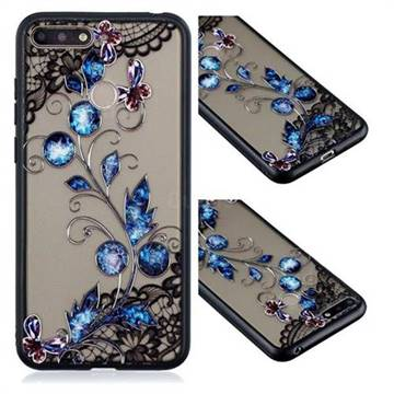 Butterfly Lace Diamond Flower Soft TPU Back Cover for Huawei Enjoy 8E