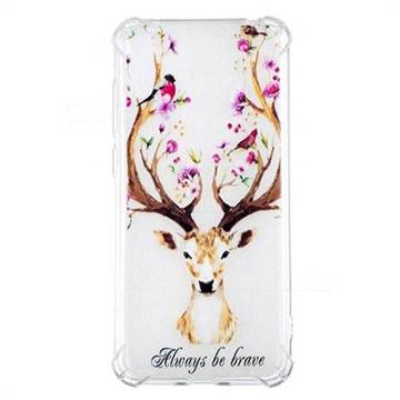 Always be Brave Anti-fall Clear Varnish Soft TPU Back Cover for Huawei Enjoy 9