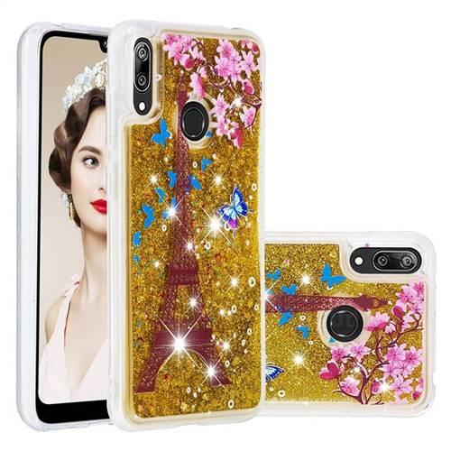 Golden Tower Dynamic Liquid Glitter Quicksand Soft TPU Case for Huawei Enjoy 9