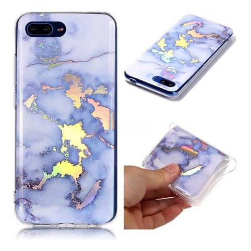 Blue Marble Pattern Bright Color Laser Soft TPU Case for Huawei Honor 10