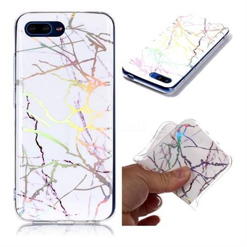 Color White Marble Pattern Bright Color Laser Soft TPU Case for Huawei Honor 10