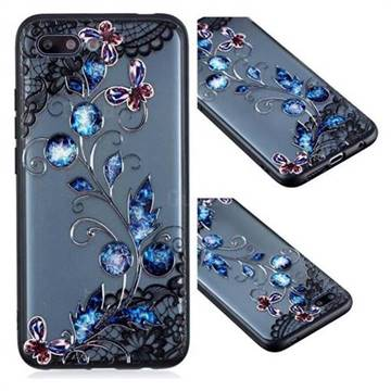 Butterfly Lace Diamond Flower Soft TPU Back Cover for Huawei Honor 10