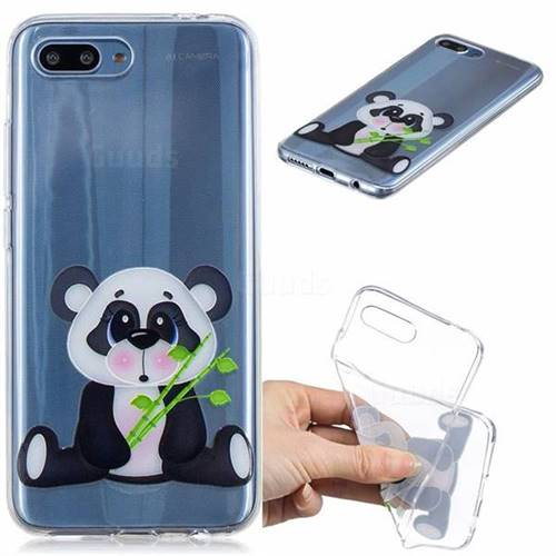 Bamboo Panda Clear Varnish Soft Phone Back Cover for Huawei Honor 10