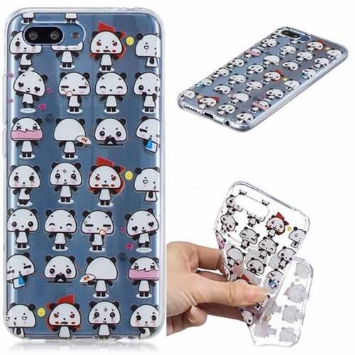 Mini Panda Clear Varnish Soft Phone Back Cover for Huawei Honor 10