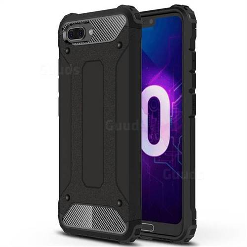 King Kong Armor Premium Shockproof Dual Layer Rugged Hard Cover for Huawei Honor 10 - Black Gold
