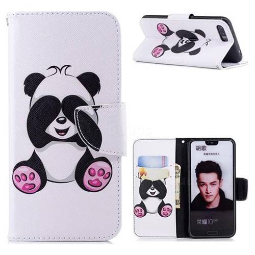 Lovely Panda Leather Wallet Case for Huawei Honor 10