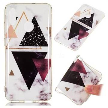 Four Triangular Soft TPU Marble Pattern Phone Case for Huawei Honor 10 Lite