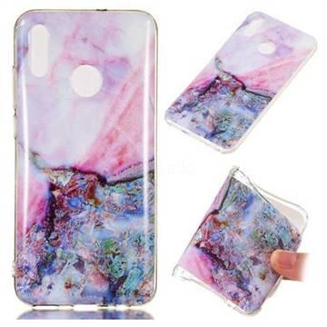 Purple Amber Soft TPU Marble Pattern Phone Case for Huawei Honor 10 Lite