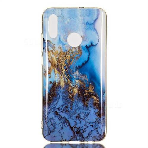 online store b08de b740d Sea Blue Soft TPU Marble Pattern Case for Huawei Honor 10 Lite