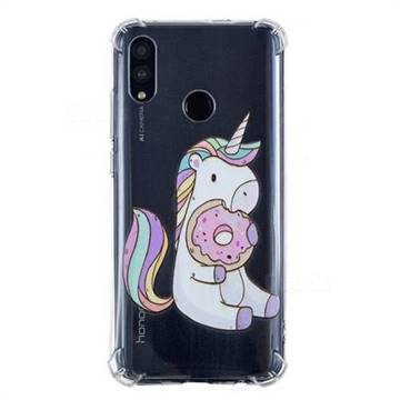 Donut Unicorn Anti-fall Clear Varnish Soft TPU Back Cover for Huawei Honor 10 Lite