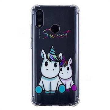 Sweet Unicorn Anti-fall Clear Varnish Soft TPU Back Cover for Huawei Honor 10 Lite