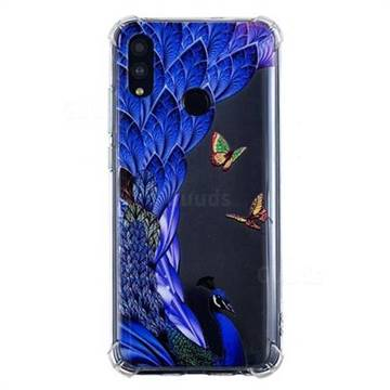 Peacock Butterfly Anti-fall Clear Varnish Soft TPU Back Cover for Huawei Honor 10 Lite