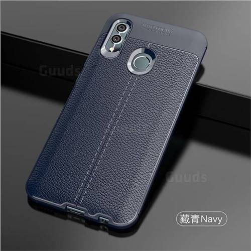 cheap for discount a7b33 e9531 Luxury Auto Focus Litchi Texture Silicone TPU Back Cover for Huawei Honor  10 Lite - Dark Blue