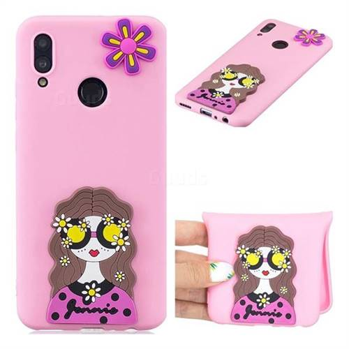 Violet Girl Soft 3D Silicone Case for Huawei Honor 10 Lite