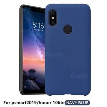 Howmak Slim Liquid Silicone Rubber Shockproof Phone Case Cover for Huawei Honor 10 Lite - Midnight Blue