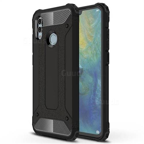 King Kong Armor Premium Shockproof Dual Layer Rugged Hard Cover for Huawei Honor 10 Lite - Black Gold