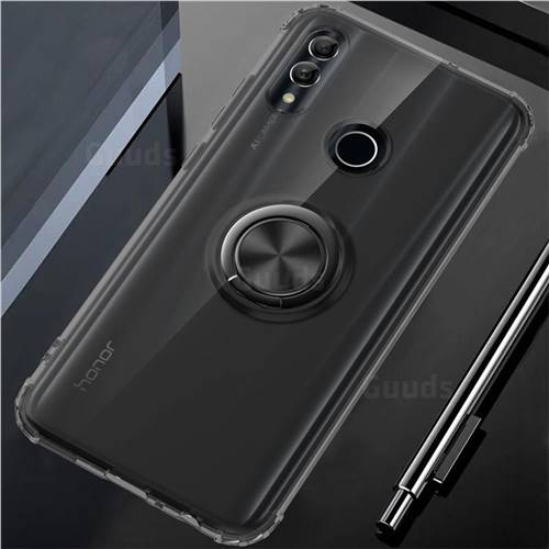 Anti-fall Invisible Press Bounce Ring Holder Phone Cover for Huawei Honor 10 Lite - Elegant Black