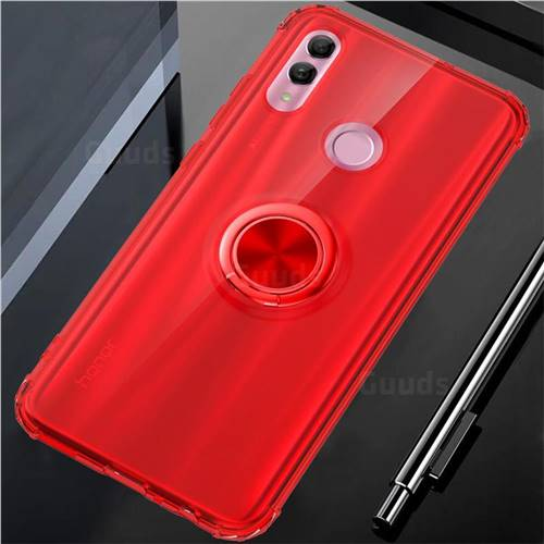 Anti-fall Invisible Press Bounce Ring Holder Phone Cover for Huawei Honor 10 Lite - Noble Red
