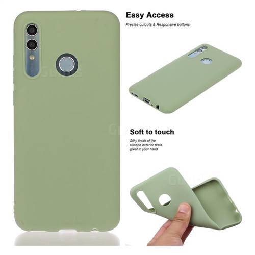 Soft Matte Silicone Phone Cover for Huawei Honor 10 Lite - Bean Green