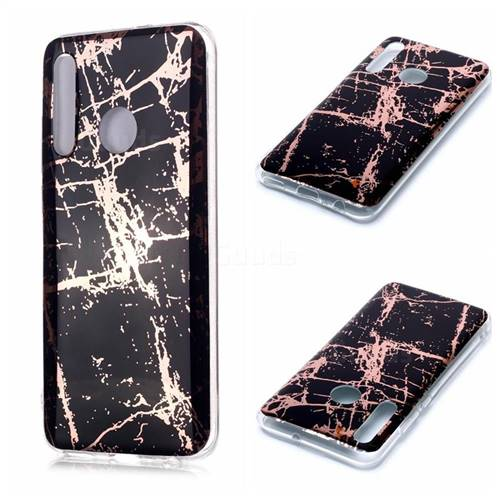 Black Galvanized Rose Gold Marble Phone Back Cover for Huawei Honor 10 Lite