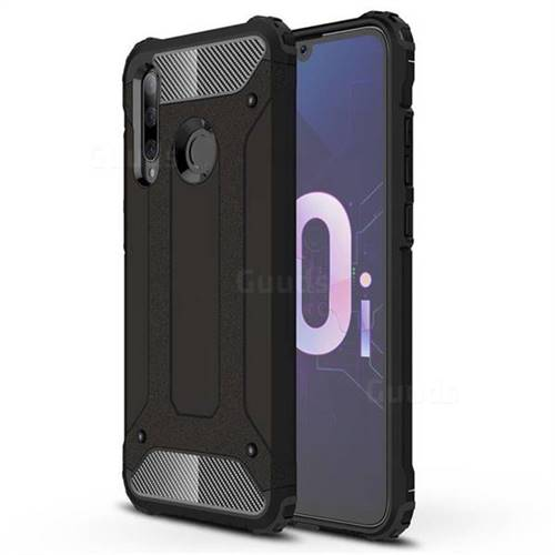 King Kong Armor Premium Shockproof Dual Layer Rugged Hard Cover for Huawei Honor 10i - Black Gold