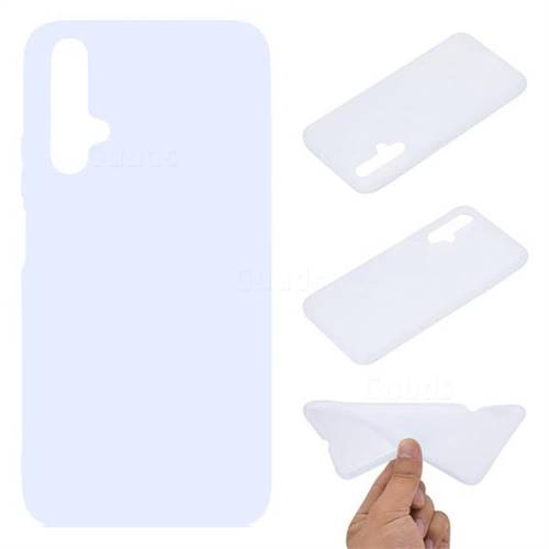 Candy Soft TPU Back Cover for Huawei Honor 20 - White
