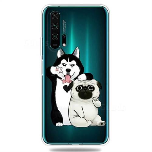 Selfie Dog Clear Varnish Soft Phone Back Cover for Huawei Honor 20 Pro