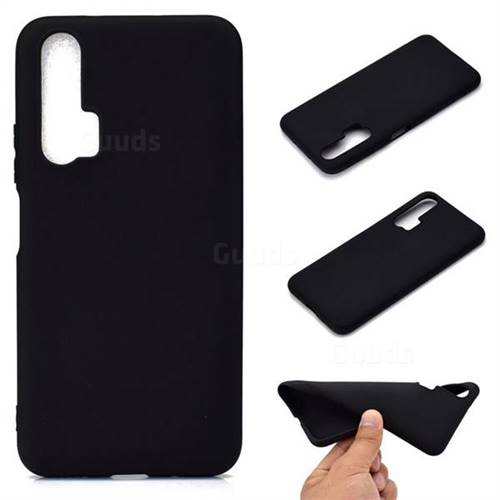 Candy Soft TPU Back Cover for Huawei Honor 20 Pro - Black